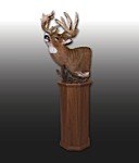 White Tail Deer Pedestal Mount